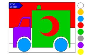 Ambulans Boyama Boyama Oyunlari
